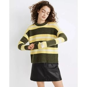 Madewell Fulton Stripe Pullover Sweater Small